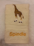 GIRAFFE PERSONALISED FACE CLOTH